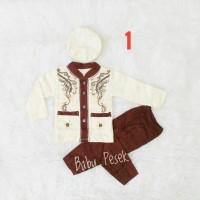 Baju Koko Anak Bayi laki gamis 2 3 4 5 6 7 8 9 10 11 bulan muslim