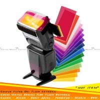 Filter Diffuser Flash Gel 12 Colour Plastik Flash Nikon Yongnuo Canon