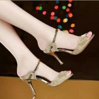 harga Sepatu High Heels Wanita Gliter - Ds Gold Tokopedia.com