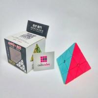 Jual Rubik Segitiga Pyraminx Original Qiyi QiMing Stickerless Doff