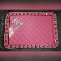 Jual Dashmat Mobil CHANNEL Pink Swarovski Murah