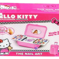 Jual Mainan Alat Make Up anak Hello Kitty The Nail Art (Koper) Murah
