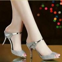 harga Sepatu Wanita High Heels Gf-ds Silver Tokopedia.com