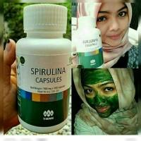 Masker Spirulina Tiens 50 Kapsul | Mencerahkan Wajah | Masker Herbal