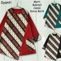 58202/tunik batik/blouse muslim/kemeja bigsize/baju jumbo/batik couple