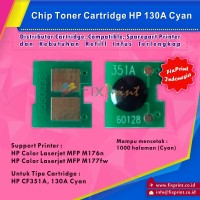 Harga Chip HP cf351a 130A Cyan Printer HP Color LaserJet MFP M176n MFP M177 | WIKIPRICE INDONESIA