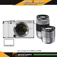 Jual Fuji X-A2 Double Kit 16-50MM & 50-230MM Murah