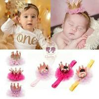 Bandana Bayi Anak Mahkota Crown Tiara Bando | Baby Headband 4