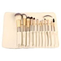 Set Kuas MakeUp 12pcs 12 pcs Tas Brush Make Up Persia Pouch Bag Case