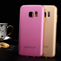 METAL DOFF Samsung galaxy S4 S7 flat edge back cover case casing hp