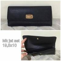 Ready Michael Kors slim wallet Jet Set Black