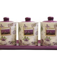 Toples Canister Set Purple Cantik