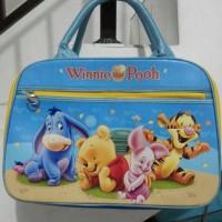 Jual Travel Bag Besar Spon Super 2 Pocket Pooh KK013 Murah