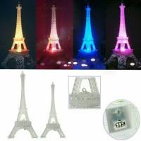 Jual Eiffel Tower Colourfull Desktop Lamp LED - Lampu Meja Pajangan Menara Murah