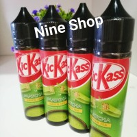 Jual Liquid premium Kickass Kick ass 60ml (kit kat macha green tea) Murah