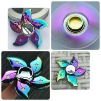 Jual Fidget Spinner Bunga Rose Rainbow Stainless IMPORT Murah