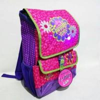 Jual Backpack Twinkle Toes Fab Floral Rucksack Pink Menyala Murah