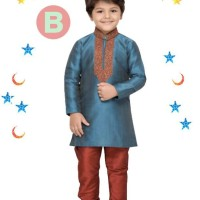 FK 38B Baju Koko Kostum Anak Kecil India Pakistan Lebaran Import Biru
