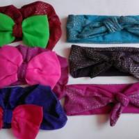 Jual Turban bayi/baby/anak &Headwrap ikat glitter/paket hemat Murah