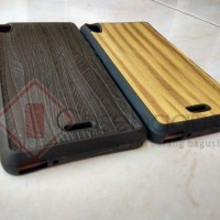 Infinix Hot Note X551 Softcase - Elegant Wood Softcase Casing Cover
