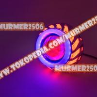 LAMPU PROJECTOR LED PROJIE MOTOR NANAS U8 BULAT AE+DE (MERAH+BIRU)