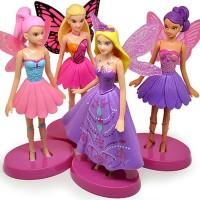 Jual Figure Barbie Wings Beautiful Mariposa Fairy Princess Figure 4pc Murah