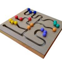 Mainan Kayu Edukatif Maze Bola untuk Anak Usia 3-4 Tahun