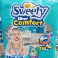 Popok Perekat Bayi Sweety Silver Comfort Tape NB 52 Diapers