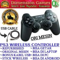 STIK PS3 / PS 3 WIRELESS ORI MESIN SONY (Bonus Kabel USB)