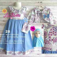 dress gamis anak 6-7th labella denim bolero 28