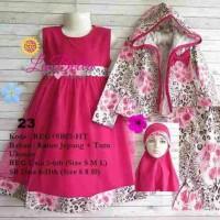 dress gamis anak 6-11th labella tutu hoodie fanta 23
