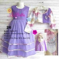 dress gamis anak 5-6th labella tutu3 ungu 26