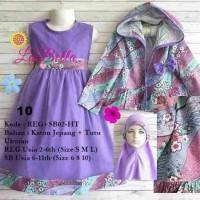 dress gamis anak 6-11th labella tutu hoodie ungu 10