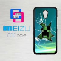 Casing Hp Meizu M2 Note Minecraft Creeper Glass Broken  X4367