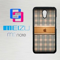Casing Hp Meizu M2 Note Burberry Apple X4386