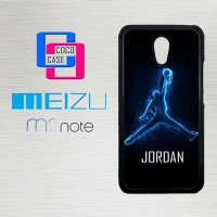 Casing Hp Meizu M2 Note Air Jordan Logo Neon X4182