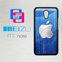 Casing Hp Meizu M2 Note Silver Apple Logo X4611