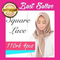 Jual Kerudung Hijab Jilbab Instan Instant Simple Syari Khimar Square Lace Murah