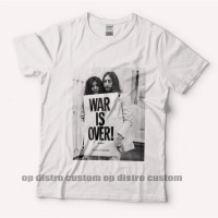 Jual Kaos merchend The Beatles War is Over - Original Gildan T shirt Murah