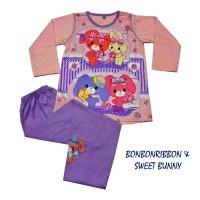 Bonbonribbon&sweet Bunny Baju Tidur/piyama Anak Cewek Prod Anne Claire