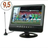 tv portable daewoo 9 in + with baterai recharger