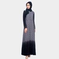 Mezora Dress Gamis Muslimah Motif Cantik - Kayana Collar Dress