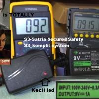 Power supply Adaptor 9v 1A Powerfull Bagus untuk TP link dan lain lain
