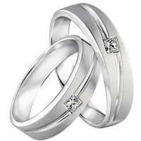 cincin tunangan bahan palladium 50% model doff