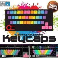 KBC Rainbow Keycaps 37 Tuts ABS Tembus LED
