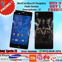 [promo] Garskin Sony Xperia Z3 Motif Rock Skull - Free Custom Gambar