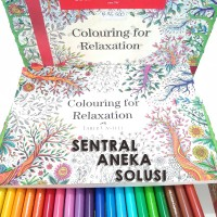 Faber Castell Conector Pen 60 + Buku Mewarnai Colouring For Relaxation