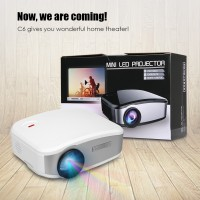 CHEERLUX C6 Mini Proyektor Projector Portable LED LCD + TV