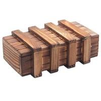 Kotak Kayu Puzzle 3D - Brown