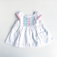 Jual Baju bayi | Baju bayi babydoll | Dress bayi (Zoya Embroidery) Murah